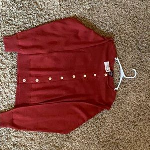 Button up woman's long sleeve sweater